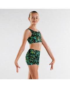 Bloch Short für Mädchen mit `techno` Aufdruck