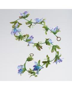 Künstliche Blumengirlande - Türkis (ca. 1m)