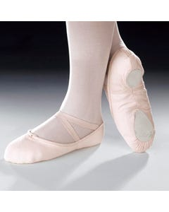 Capezio Cobra Ballettschuhe aus Leinen mit geteilter Sohle (Rosa)