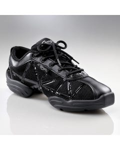 Capezio Patent Web Sneaker in Schwarz