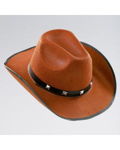 Cowboy-Hut aus braunem Filz