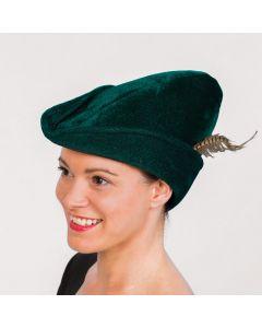 Weiche Robin Hood-Mütze in Dunkelgrün
