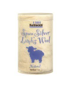 Bunheads Spun Silver Lammwolle 1oz.