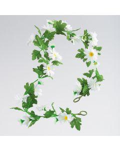 Künstliche Blumengirlande - Gänseblümchen/Weiss (ca. 1m)