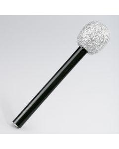 Silbernes Mikrofon mit Glitzer (25cm lang)