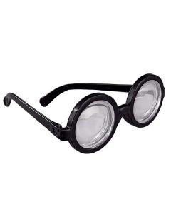 Runde Brille mit schwarzem Rand
