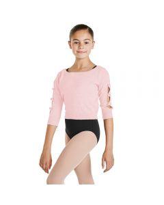Mädchen-Pullover mit Öffnungen am Arm