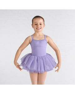 Bloch Gathered Neckline Diamond Heart Flocked Mesh Tutu Leotard