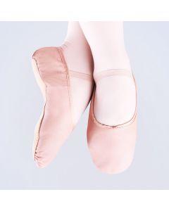 Ballettschuh aus Leder mit ganzer Sohle