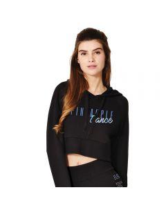 Kurzer Pullover / Sweatshirt mit Kapuze