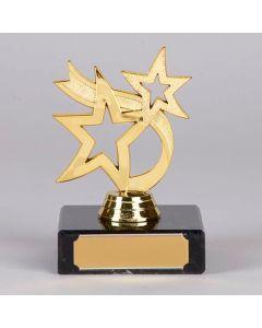 Kleine Trophäe mit zwei goldenen Sternen