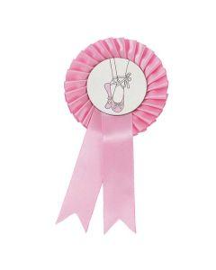 Rosafarbene Rosette mit Ballettschuh-Motiv