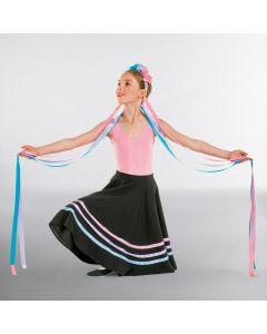 Haarschmuck mit Blumen und langen Bändern - Pastellfarben