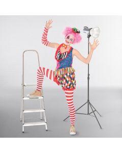 Lady Clown Outfit - Einheitsgröße Erwachsene