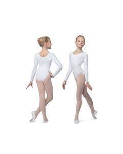 Mädchen-Tanztrikot mit langem Arm