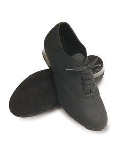 Roch Valley Oxford Schuhe aus Leinen für Jungen - schwarz
