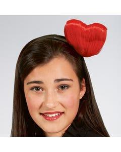 Haarband mit rotem Herz