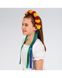Strahlendes Blumenhaarband mit Bändern