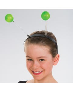 Haarreif mit grünen Kugeln/Antennen