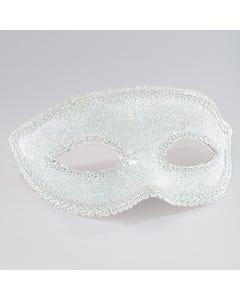 Lurex Augenmaske in silber mit Band