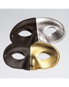 Zweifarbige Gesichtsmaske Gold/Schwarz